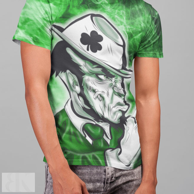 Fighting Leprechaun Men's T-Shirt-BK Variety Market