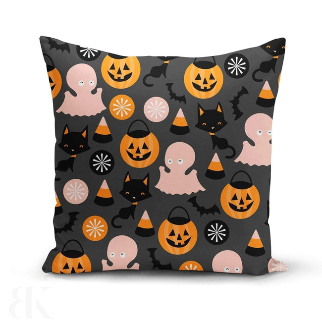 Ghost Cat Pillow Cover-BK Variety Market