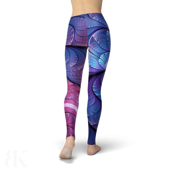 Jean Purple And Blue Scales Legging-BK Variety Market