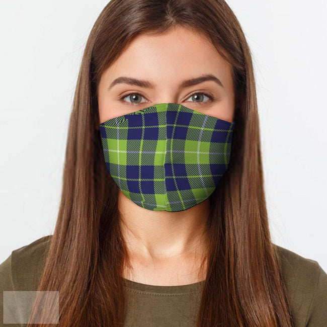 Lime Blue Plaid Face Mask-BK Variety Market