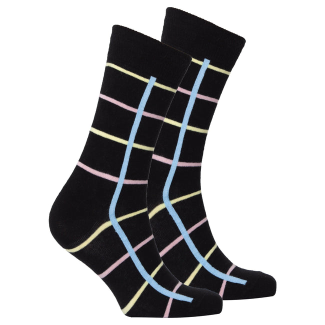 Men's Black Stripe Socks-BK Variety Market