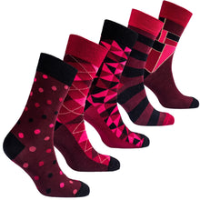 Men's Burgundy Mix Set Socks-BK Variety Market