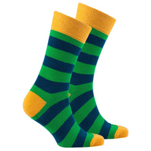 Men's Carrot Leaf Stripe Socks-BK Variety Market