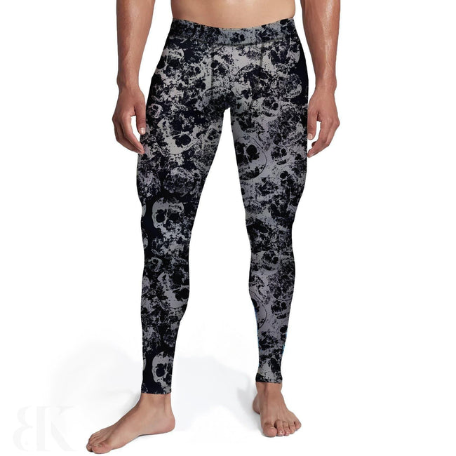 Mens Faded Skulls Tights-BK Variety Market