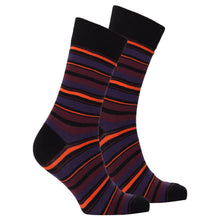 Men's Garnet Stripe Socks-BK Variety Market