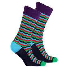 Men's Grape Wave Socks-BK Variety Market