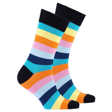 Men's Light Pastel Stripe Socks-BK Variety Market