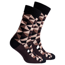 Men's Mocha Triangles Socks-BK Variety Market