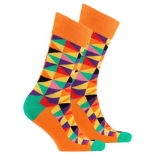 Men's Orange Triangle Socks-BK Variety Market