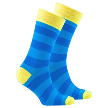 Men's Yellow Sky Stripe Socks-BK Variety Market
