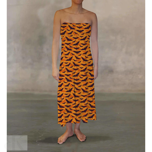 Orange Bats Maxi Skirt-BK Variety Market