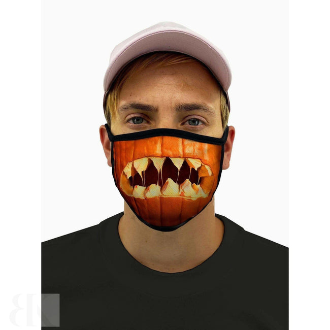 Pumpkin Mouth Halloween Face Mask With Filter Pocket-BK Variety Market