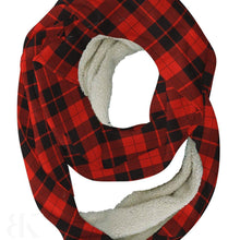 Red Black Plaid Infinity Scarf-BK Variety Market