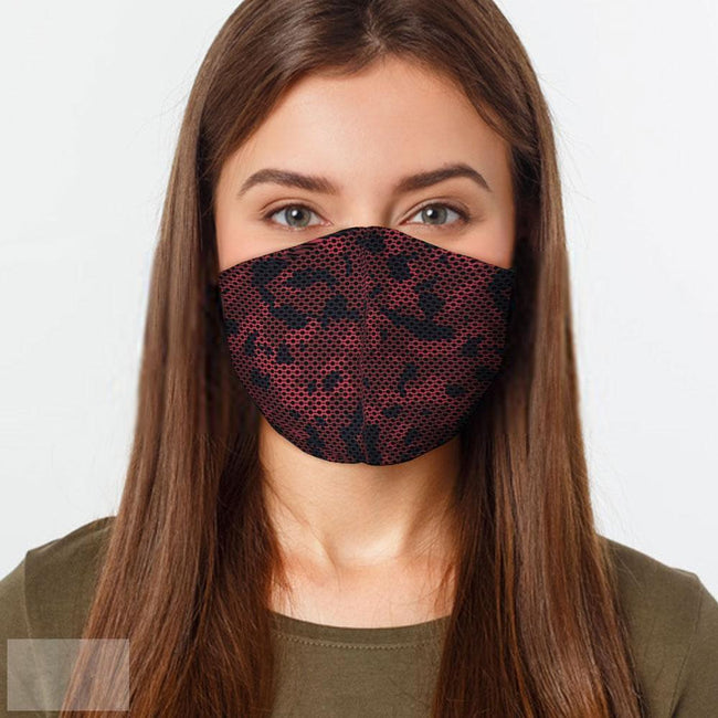 Red Camo Face Mask - L - Multicolored-BK Variety Market