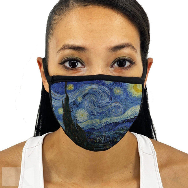 Starry Night Face Mask With Filter Pocket-BK Variety Market