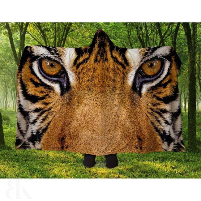 Tiger Eyes Hooded Blanket-BK Variety Market