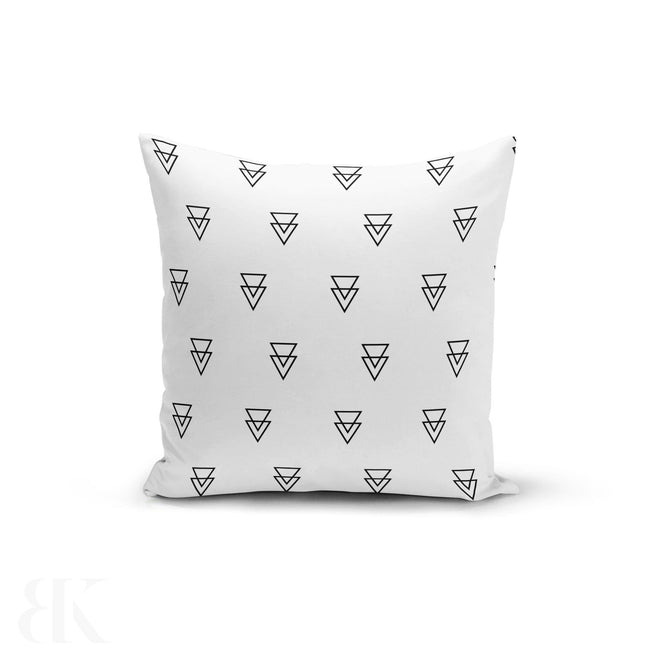 Triangle Outlines Pillow Cover-BK Variety Market