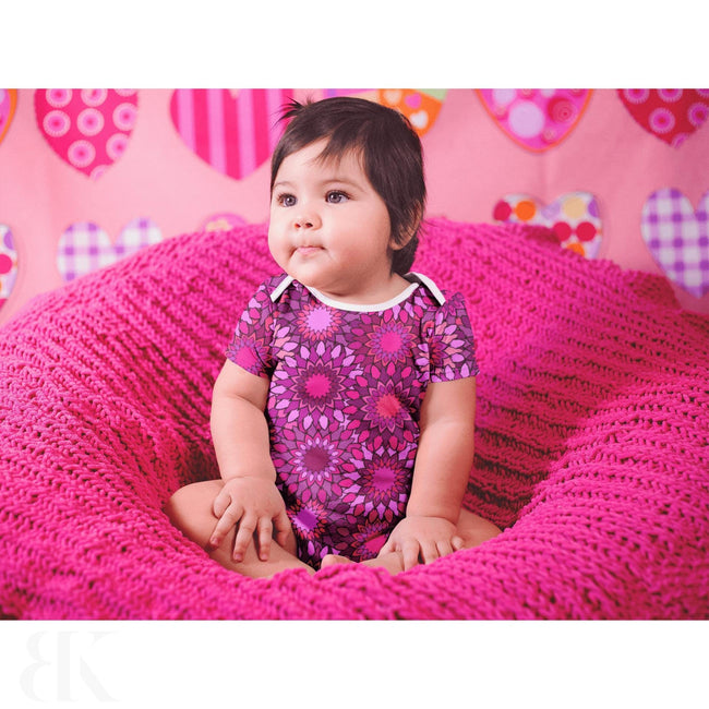 Vibrant Pink Flowers One Piece Outfit-BK Variety Market