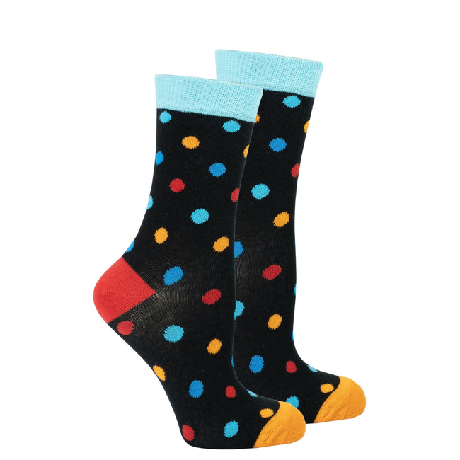 Women's Black Sky Dot Socks-BK Variety Market