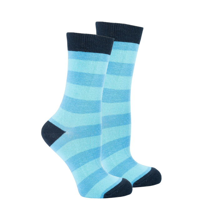 Women's Black Sky Stripe Socks-BK Variety Market