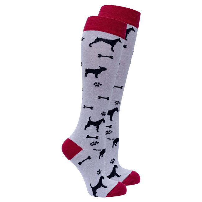 Women's Shadow Dog Knee High Socks-BK Variety Market