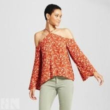 Women's Y-Neck Floral Printed Top-BK Variety Market