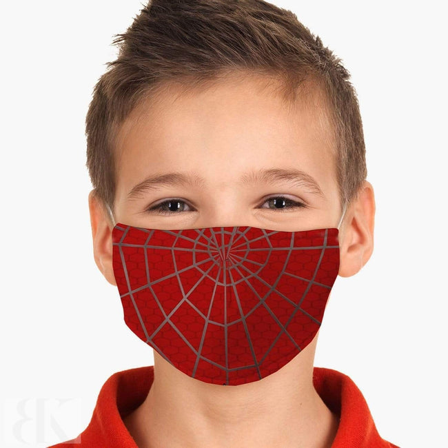Youth Red Spider Web Face Mask-BK Variety Market
