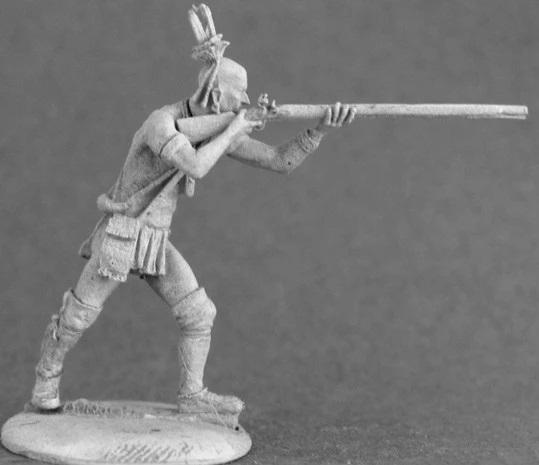 TMM-2006 Eastern Woodland Indian aiming musket
