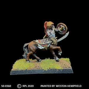 50-0360:  Armored Centaur with Sword and Shield, Plate Armor