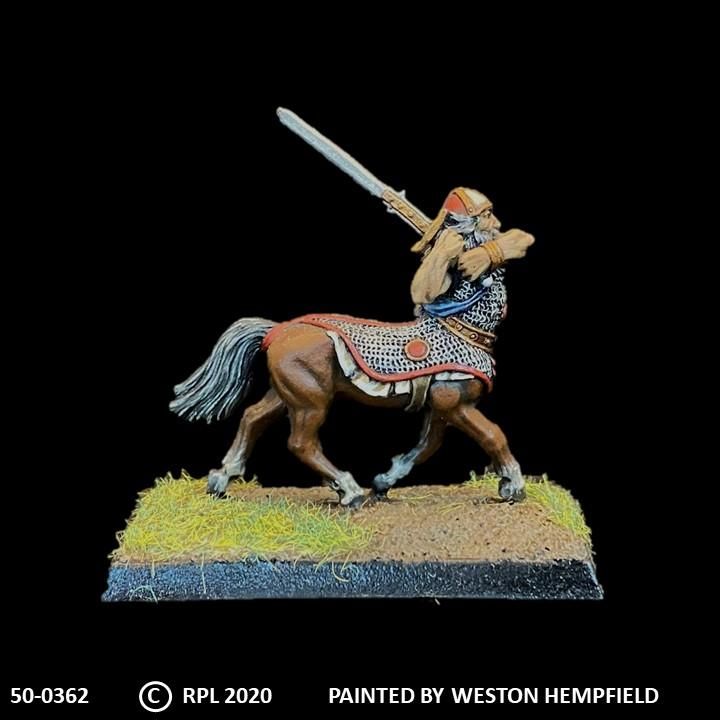 50-0362:  Armored Centaur with Great Sword, in Chainmail