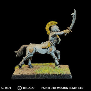 50-0371:  Heavily Armored Centaur with Sword and Shield