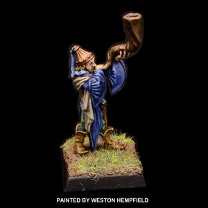 50-0047:  Elf Musician, with Horn