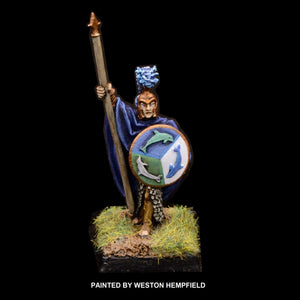 50-0060:  Elf Warlord with Spear and Round Shield