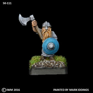 50-0111:  Dwarf Axeman I, in Chainmail