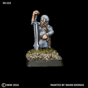 50-0122:  Dwarf with Greatsword II, In Reserve, in Chainmail