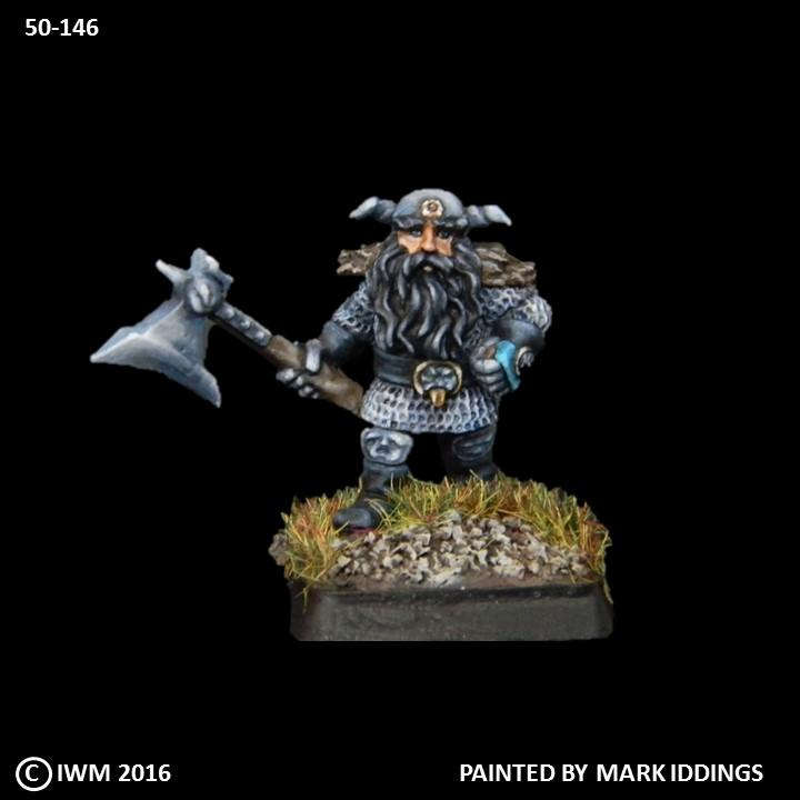 50-0146:  Dwarf Bearmaster with Axe