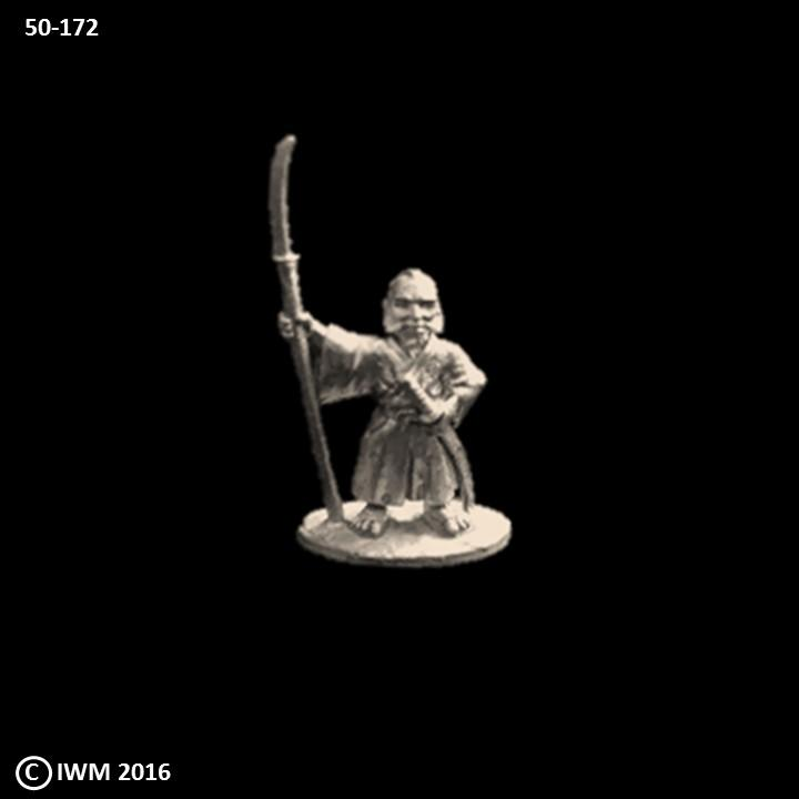 50-0172:  Dwarf Adventurer - Samurai with Naginata