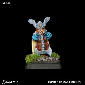 50-0181:  Dwarf General with Great Axe