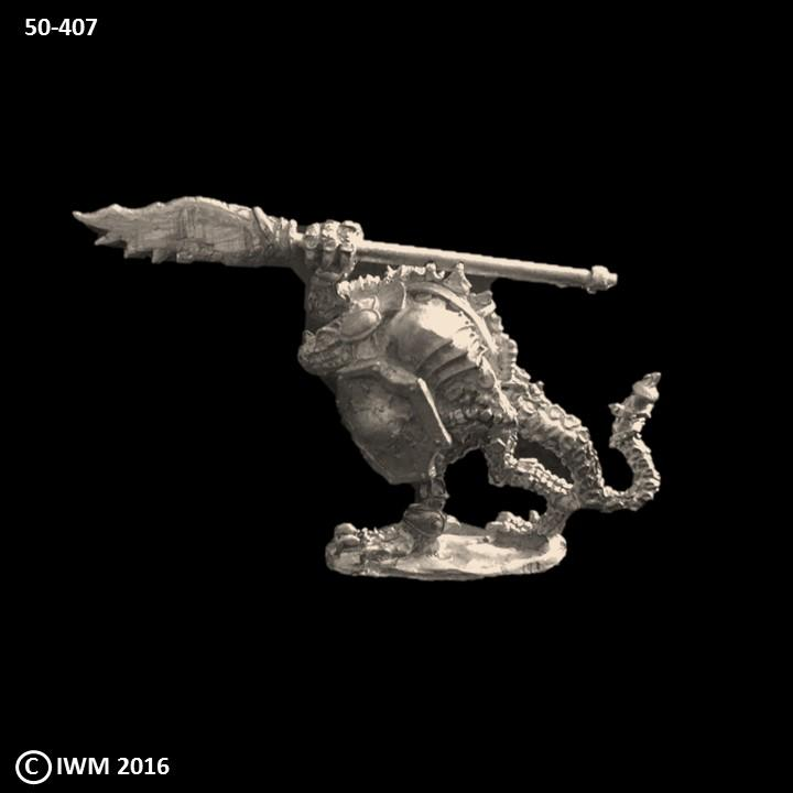 50-0407:  Troglodyte Warrior I, Weapon Overhead