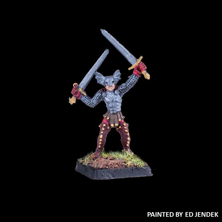 51-0503:  Chaos Acolyte with Two Swords, and Winged Helmet