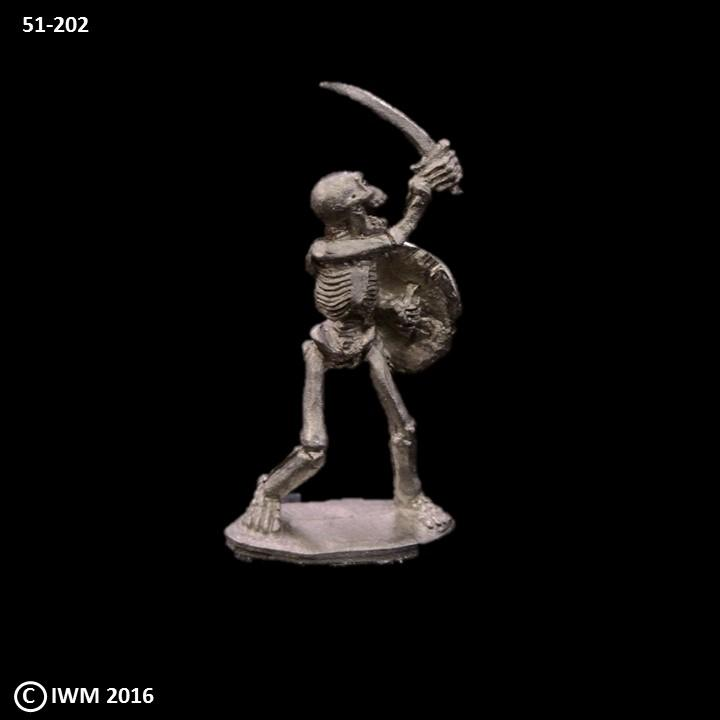 51-0202:  Unarmored Skeleton with Sword and Shield II