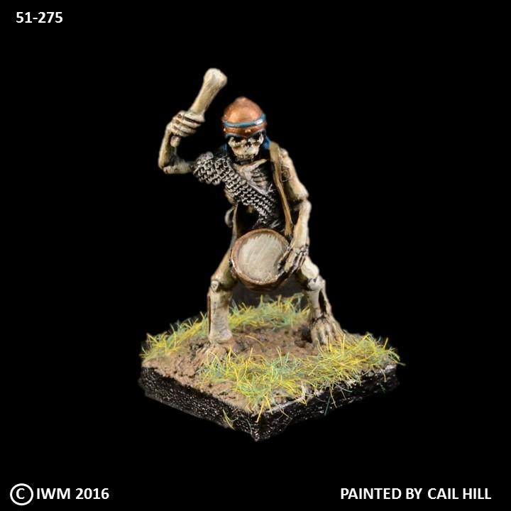 51-0275:  Skeleton Musician with Drum