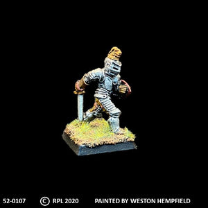 52-0107:  Foot Knight with Sword and Heater Shield VII