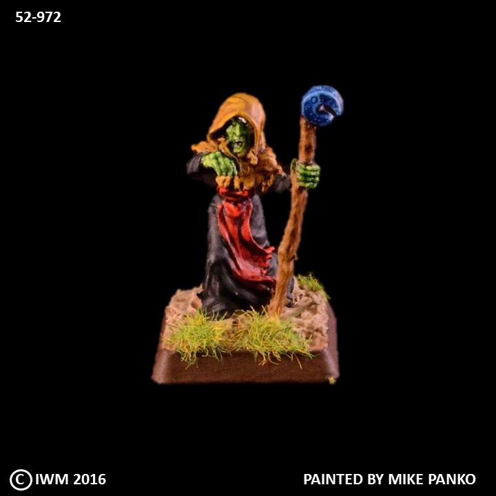 52-0605:  Sorceress, Hooded with Staff
