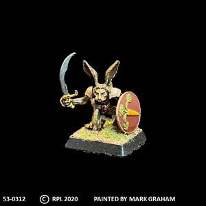 53-0312:  Thumper with Sword and Shield, Crouched