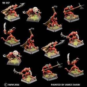 98-0147:  Lesser Troglodyte Warriors Regiment Set