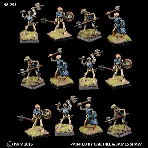 98-0293:  Armored Skeleton Axemen