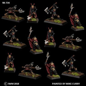 98-0734:  Chaos Knights with Axes Regiment Set