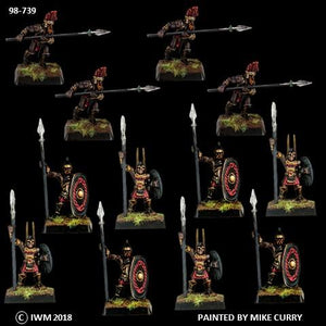98-0739:  Chaos Knight Berserkers with Spears Regiment Set