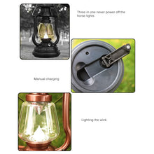 Load image into Gallery viewer, Solar/Manual Waterproof Outdoor Lantern Ultra Bright